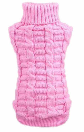 968cd5430d82 (veľkosť M  33 25 cm) Pletený sveter pre psov PUPPY