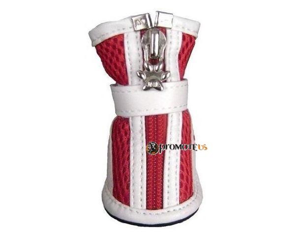 (veľkosť L  5 4 cm) Priedušné červené topánky Harry pre psov bfa9af24c70