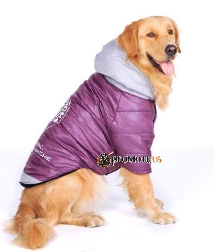 6b960933be97 (veľkosť 6XL  75 60 cm) Zimná bunda pre veľkých psov - fialová