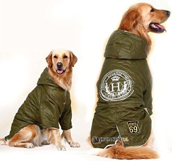 d111c2a71534 (veľkosť 6XL  77 60 cm) Zimná zateplená bunda pre veľkých psov - zelená