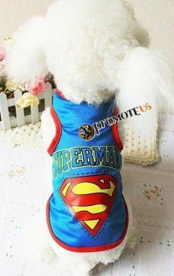 (veľkosť M  34 26 cm) Tričká pre psov Superman modrá 787c8f5ba5b