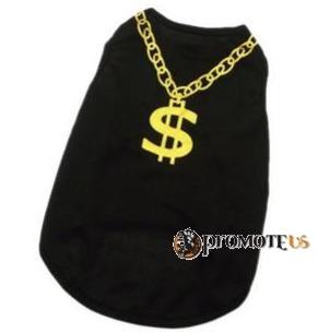 (veľkosť S  36 26 cm) Tričko pre psov Dolár čierna 83c1901326d