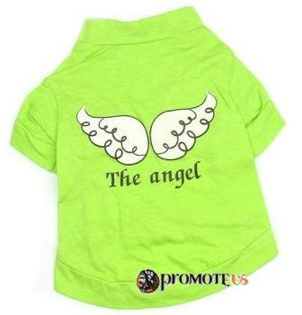 (veľkosť L  44 36 cm) Tričko pre psov ANGEL zelená e3a29030b99