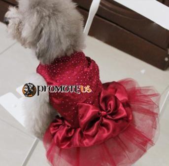 a67c5b3b1488 (veľkosť S  30 28 cm) Bordové šaty Marilyn pre fenky
