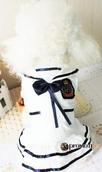 (veľkosť XL  49 35 cm) Biele šaty Lucky pre fenky empty acdf6e77c03