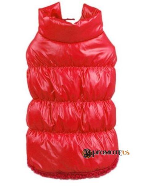 eba23d604698 (veľkosť XXXL  62 48 cm) Zimná zateplená vesta pre psov KARKULKA červená