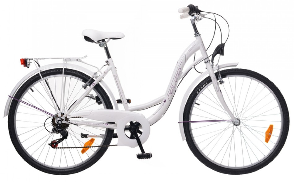 "Neuzer 26"" Mestský dámsky bicykel VENEZIA 6-rýchlostný biela 2018"