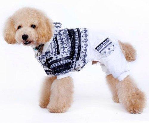 (veľkosť S  30 20 cm) Zimný overal pre psov FÉLIX bielo- empty 0479e13a84f