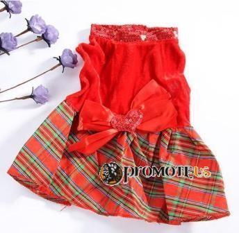 d9bb2cc0f4d7 (veľkosť XS  35 23 cm) Vianočné šaty Rita pre fenky